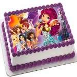 Torta Lego Friends 02 | Imágenes de Torta LEGO | Pastel de lego - Cod:LGT05