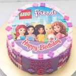 Torta Lego Friends 05 | Imágenes de Torta LEGO | Pastel de lego - Cod:LGT16