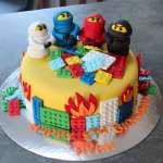 Torta Lego Ninjago 06 | Imágenes de Torta LEGO | Pastel de lego - Cod:LGT30