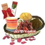 Lonche con Rosas | Lonche Delivery | Regalos a domicilio | lonches - Cod:LOA02