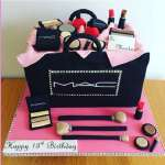 Torta Maquillaje de MAC | Torta mac | Tortas de maquillaje | Torta para chicas | Tortas - Cod:MAC10