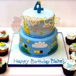 Torta Mario Bros y cupcakes | Tortas Mario Bros - Cod:MBK06