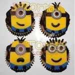 4 Muffins Mi villano favorito | Minions | Torta de minions - Cod:MVF17
