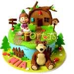 Torta Masha y el Oso para niña | Tortas de Masha y el Oso - Cod:MYS07
