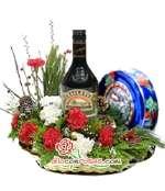 Cesta de Navidad | Arreglos florales de Navidad - Cod:NAV03