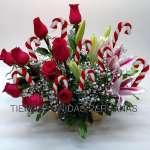 Arreglos Florales para navidad | Arreglo de Rosas para Navidad - Cod:NAV04