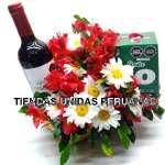Arreglos Florales Navidad | Canasta Navideña - Cod:NAV06