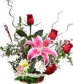 Arreglo Floral Navideño | Navidad con Rosas para regalar - Cod:NAV07