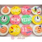 Cupcakes para Año nuevo | Pastel año nuevo | Tarta de año nuevo - Cod:NYR02