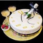 Pastel con Tema de Año nuevo | Pastel año nuevo | Tarta de año nuevo - Cod:NYR10