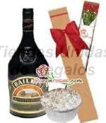 Arreglo con Rosas y Licor | Delivery de Rosas - Cod:OFE25