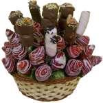 Arreglo a base de frutas de Estación en cesta | Cesta de Frutas con Chocolate - Cod:QFP07