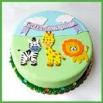 Torta Safari   Torta de Tema Safari Baby - Cod:SAF01