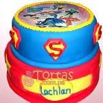 Torta con tema de SuperMan | Tortas de Superman - Cod:SPN02