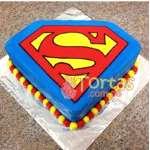 Torta Superman mediana | Tortas de Superman - Cod:SPN12
