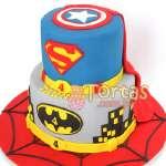 Torta de Superman mediana | Tortas de Superman - Cod:SPN13