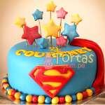 Torta del tema de Superman  | Tortas de Superman - Cod:SPN15