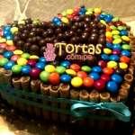 Torta Candy en forma de corazon | Torta De Golosinas | Candy Cake - Cod:TAA08