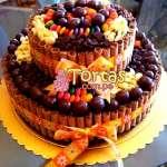 Torta Candy de 2 pisos | Torta De Golosinas | Candy Cake - Cod:TAA14