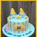 Torta con tema de Bananas en Pijamas | Tortas Bananas en Pijamas - Cod:TBP04