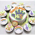 Torta Hi5 redonda | Delivery de de tortas en Lima | Envío de tortas en Lima Perú - Cod:THI07