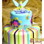Torta Campanita 2 pisos | Pastel de Tinkerbell | Tortas | Pastel de Campanita - Cod:TKB07