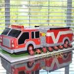 Torta del tema de bomberos | Torta bombero | Tortas de bomberos | Pastel de bombero - Cod:TMB03