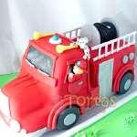 Pastel con tema bomberos | Torta bombero | Tortas de bomberos | Pastel de bombero - Cod:TMB06