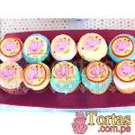 Cupcakes de Peppa Pig | Tortas Pepa Pig - Cod:TPE05