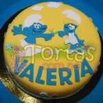 Torta de los Pitufos  | Torta Pitufos | Feliz cumpleaños | Tortas | Cumpleaños - Cod:TPU07