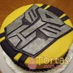Torta Bumblebee | Pasteles Transformers | Tortas de transformers - Cod:TRF05