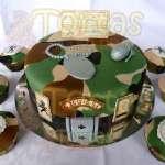 Torta Militar | Army Cake - Cod:TRR43
