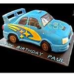 Tortas de Carros para Niños | Torta Subaru - Cod:WAU01