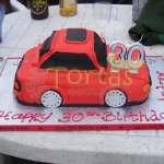 Torta en Forma de Auto | Torta Auto Rojo - Cod:WAU05