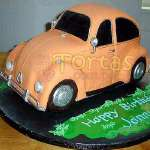 Torta Vochito | Tortas con Autos | Tortas de Carros - Cod:WAU10