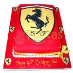 Torta Ferrari | Tortas con Autos | Tortas de Carros - Cod:WAU12