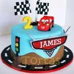 Torta Rayo Cars | Tortas con Autos | Tortas de Carros - Cod:WAU17