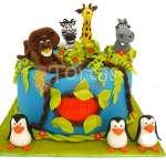 Torta de Madagascar | Tortas Infantiles - Cod:WBE01