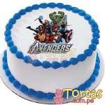 Torta  Avengers con Fotoimpresion | Delivery de de Tortas en Lima | Tortas a Peru - Cod:WBE17