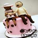 Torta Mamá Enbarazada 04 | Torta para un Baby Shower | Torta Panza de embarazada - Cod:WME04