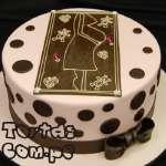Torta Mamá enbarazada 08 | Torta para un Baby Shower | Torta Panza de embarazada - Cod:WME08