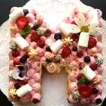 Tortas Numero | Torta de letras con Flores | Tortas con Flores - Cod:WNU01