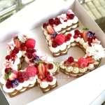 Torta Flres y Letras 08 | Tortas en forma de Letras - Cod:WNU08