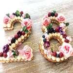 Tortas de letras con Flores | Tortas de Letras | Tortas de Numeros - Cod:WNU02