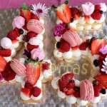 Torta Flores y Numeros 11 | Torta de Letras o Números - Cod:WNU11