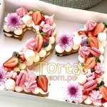 Torta fllres y numeros 14 | Torta de Letras o Números - Cod:WNU14