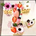 Tortas con Numeros y flores | Tortas de Numeros para Hombres - Cod:WNU04
