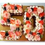 Torta con Numero | Torta Letras y Numeros 17 - Cod:WNU17