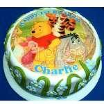 Foto Torta Winnie Pooh | Tortas Infantiles para niños | Torta Winnie pooh - Cod:WPO06