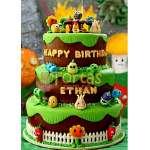 Torta de Zombies vs Plants tres pisos | Plants vs Zombies cake | Tortas de Zombies | Tortas plantas - Cod:ZVP07